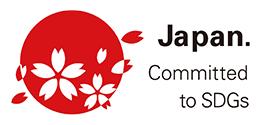 日の丸に桜モチーフのロゴマーク