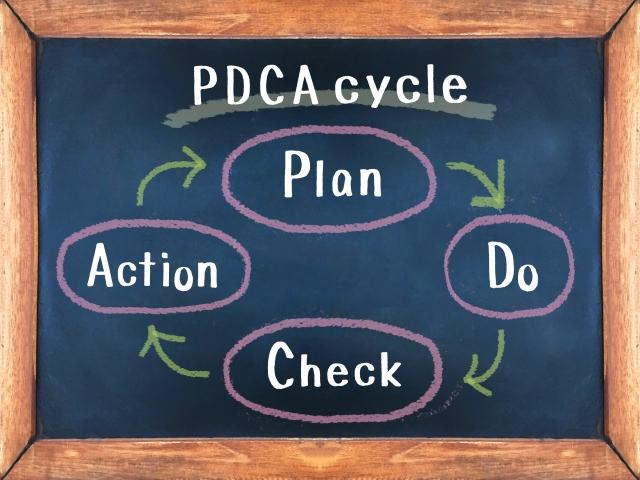 PDCAを回しましょう。